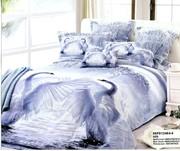 Постельное белье на 2-х спальную кровать с рисунком 3D